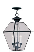 LIVEX Lighting 2385-04 Westover Outdoor Chain Lantern in Black (3 Light)