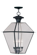LIVEX Lighting 2387-04 Westover Outdoor Chain Lantern in Black (4 Light)