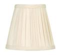 LIVEX Lighting S316 Off-White Pleat Empire Silk Clip Shade