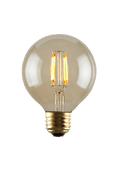 Luminance L7582-1 Set of 6 LED G25 Nostalgia Filament Bathroom Vanity Lightbulbs