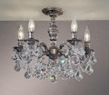 Classic Lighting 57384 AGP CBK Chateau Imperial Crystal Flushmount in Aged Pewter (Imported from Spain)