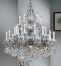 Classic Lighting 5545 OWB SGT Madrid Imperial Crystal/Cast Brass Chandelier in Olde World Bronze (Imported from Spain)