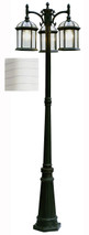 "Wentworth 79"" Outdoor White Traditional Pole Light"