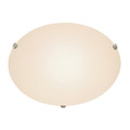 """Trans Globe Lighting 58708 WH Cullen 20"""" Indoor White Contemporary Flushmount with Wide Dish Glass Shade for Soft Lighting"""
