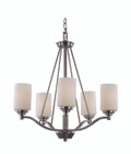 "Mod Pod Collection 25"" Indoor Rubbed Oil Bronze Modern Chandelier"