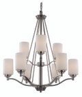 "Mod Pod Collection 29"" Indoor Rubbed Oil Bronze Modern Chandelier"
