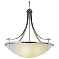 "Vitalian Vitalian 30"" Brushed Nickel Contemporary Chandelier with Multiple Glass Choices for Shades"