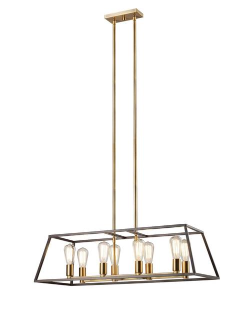 "Adams 35"" Long Indoor Rubbed Oil Bronze Transitional Pendant"