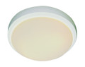 """Bliss 11"""" Indoor White Traditional Flushmount with White Frost Glass Shade"""