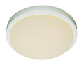 """Bliss 15"""" Indoor White Traditional Flushmount with White Frost Glass Shade"""