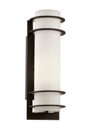 "Zephyr 16.25"" Outdoor Black Transitional Wall Lantern"