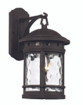"16.25"" Outdoor Rust Nautical Wall Lantern with Decorative Hook Ring Accent"