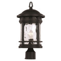 "Trans Globe Lighting 40373 RT 18.5"" Outdoor Rust Nautical Postmount Lantern(Shown in Black Finish)"