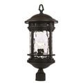 "Trans Globe Lighting 40374 RT 23.5"" Outdoor Rust Nautical Postmount Lantern(Shown in Black Finish)"