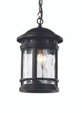 "15"" Outdoor Black Nautical Hanging Lantern with Included Hanging Chain"