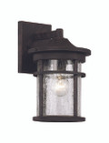 "11"" Outdoor Rust Transitional Wall Lantern with Cast Aluminum Frame"