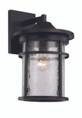 "17.75"" Outdoor Black Transitional Wall Lantern with Cast Aluminum Frame"