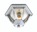 """Bostwick 8.75"""" Outdoor White Traditional Flushmount Lantern with Clear Seeded Glass and Metal Frame"""