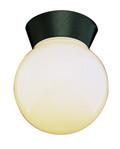 """Pershing 7"""" Outdoor Black Traditional Flushmount Lantern"""