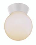 """Pershing 7"""" Outdoor White Traditional Flushmount Lantern"""