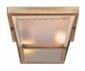 "Samantha 5"" Outdoor Polished Brass Traditional Flushmount Lantern"