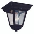 "Robertson 7.25"" Outdoor Black Traditional Flushmount Lantern"