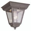 "Robertson 7.25"" Outdoor Rust Traditional Flushmount Lantern"