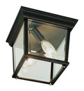 """Ansel 6.5"""" Outdoor Rust Traditional Flushmount Lantern with Ambient Lighting"""