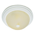 """Del Mar 15"""" Indoor Antique White Traditional Flushmount with Frosted Leaf Pattern Shade"""