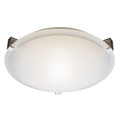 """Neptune Neptune 12"""" Indoor White Contemporary Flushmount with White Frost Glass Shade and Low Profile Design"""