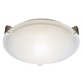 """Neptune Neptune 15"""" Indoor White Contemporary Flushmount with White Frost Glass Shade and Low Profile Design"""