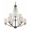 "Mod Pod Collection 29"" Indoor Brushed Nickel Modern Chandelier"