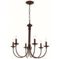 "Candel Collection 24"" Indoor Rubbed Oil Bronze Colonial Chandelier"
