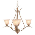 """Aspen 22"""" Brushed Nickel Transitional  Chandelier with Elegant Ribbon Arms"""