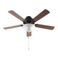 "Solana Solana 52"" Indoor Ceiling Fan with 5 Blade Durability and Elegant Oiled Bronze Finish"