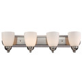"""Trans Globe Lighting 3504-1 PC 30"""" Indoor Polished Chrome Traditional Vanity Bar(Shown in PC Finish)"""