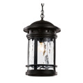 "Trans Globe Lighting 40376 RT 19"" Outdoor Rust Nautical Hanging Lantern(Shown in Black Finish)"
