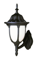 "Trans Globe Lighting 4040 BG 13"" Outdoor Black Gold Traditional Wall Lantern(Shown in Black Finish)"
