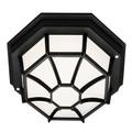 "Trans Globe Lighting 40581 SWI 4"" Outdoor Swedish Iron Rustic Flushmount Lantern(Shown in Black Finish)"