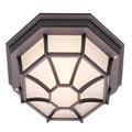 "Trans Globe Lighting 40582 SWI 5"" Outdoor Swedish Iron Rustic Flushmount Lantern(Shown in Black Finish)"