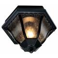"Trans Globe Lighting 4558 BC 8.75"" Outdoor Black Copper Traditional Flushmount Lantern"