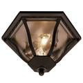 "Trans Globe Lighting 4559 BG 8.5"" Outdoor Black Gold Traditional Flushmount Lantern"