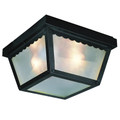 """Trans Globe Lighting 4901 BN 5"""" Outdoor Brushed Nickel Traditional Flushmount Lantern"""