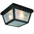 "Trans Globe Lighting 4902 RT 5"" Outdoor Rust Traditional Flushmount Lantern"
