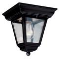 "Trans Globe Lighting 4903 BC 7.25"" Outdoor Black Copper Traditional Flushmount Lantern"