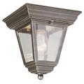 "Trans Globe Lighting 4903 WH 7.25"" Outdoor White Traditional Flushmount Lantern"