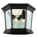 "Trans Globe Lighting 4904 BC 6.5"" Outdoor Black Copper Traditional Flushmount Lantern"