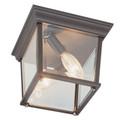 "Trans Globe Lighting 4905 BC 6.5"" Outdoor Black Copper Traditional Flushmount Lantern"