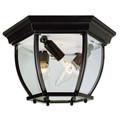 "Trans Globe Lighting 4906 BG 6.5"" Outdoor Black Gold Traditional Flushmount Lantern"
