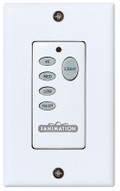 Fanimation C25 Wall Control for Fan & Light (3-Speed/Non-Rev) in White